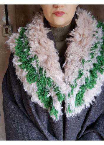 wool collar slow fashion ecofashion faux fur
