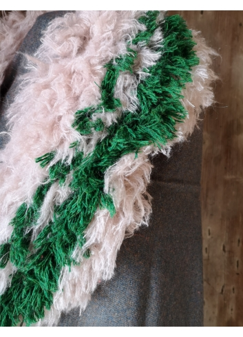 wool collar upcycled eco-wool faux fur