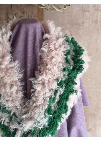 recycled wool collar eco-wool wool mill paoletti winter fashion