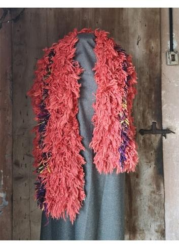 stola sciarpa lanificio paoletti ecopelliccia