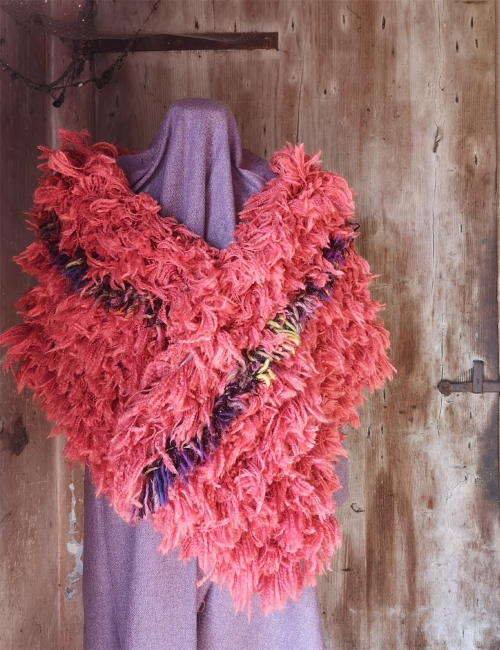 scarf stole upcycled wool paoletti wool mill