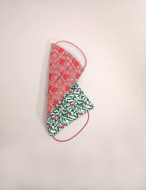 Christmas face mask covid reusable festive