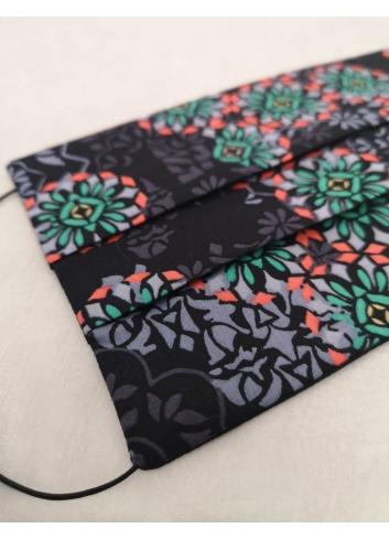 Mosaico Mask, reusable, double-sided black colourful stylish liberty london