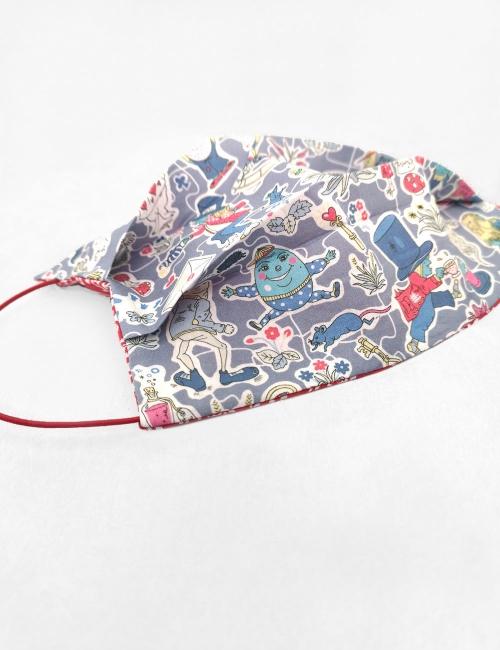 Alice Mask, reusable, double-sided colourful christmas navidad