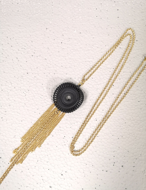 Nacklace venice , Black bijoux gift fashion jewellery  accessory