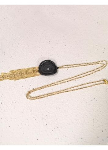 Nacklace venice , Black bijoux gift
