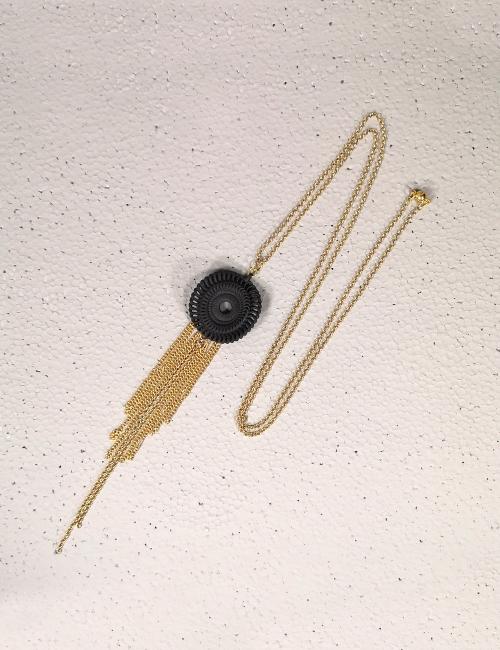 Nacklace venice , Black bijoux gift fashion jewellery  accessory