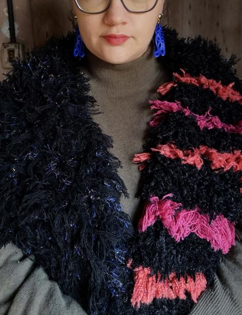 sciarpa cimosse lana ecologica colorata