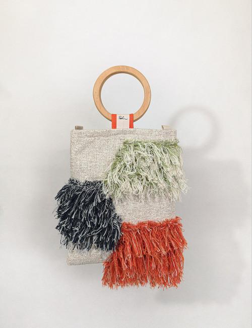 Borsa Paolin upcycling riciclo tessuto fodera Francesca