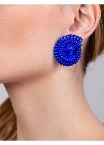 Paolin earrings ER-02A BLUE fashion jewellery 3D printed