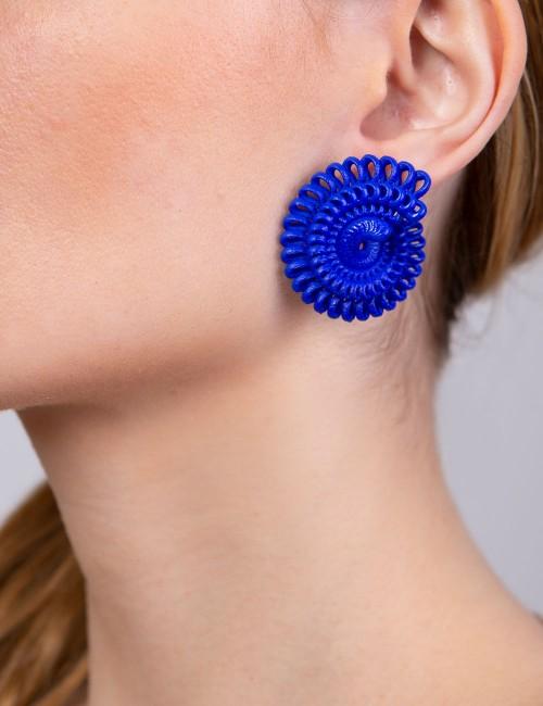 Paolin earrings ER-02A BLUE fashion jewellery 3D printed