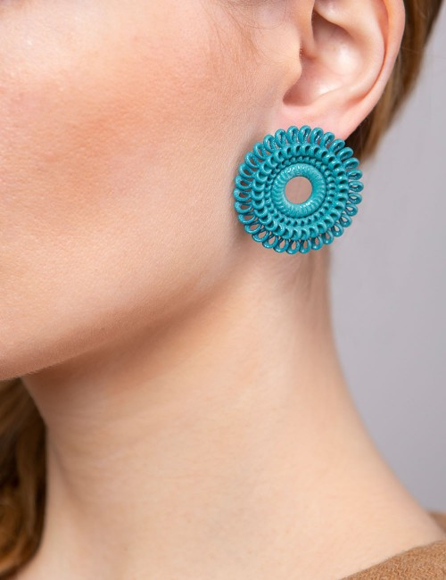 Circle Venice earrings ER-01 ANIMA 3D printed fashion bijoux