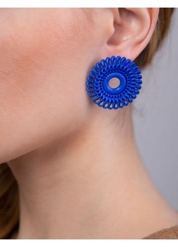 Orecchini Circle Venice ER-01 BLUE fashion bijoux stampati 3D