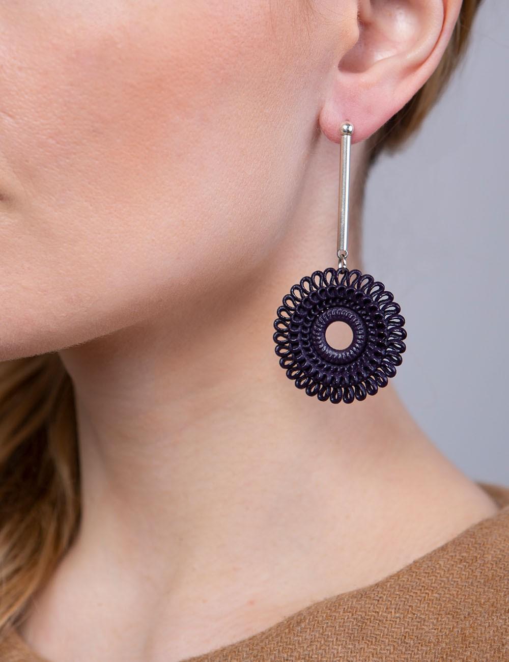 Orecchini pendente Circle Venice ER-02 LAVA fashion custom jewels