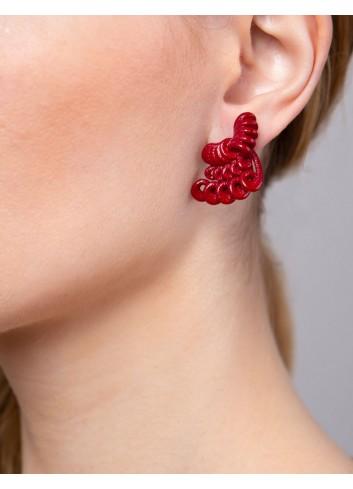 Hyacinth earrings ER-11 DELICIOUS RED Paolin fashion custom jewellery