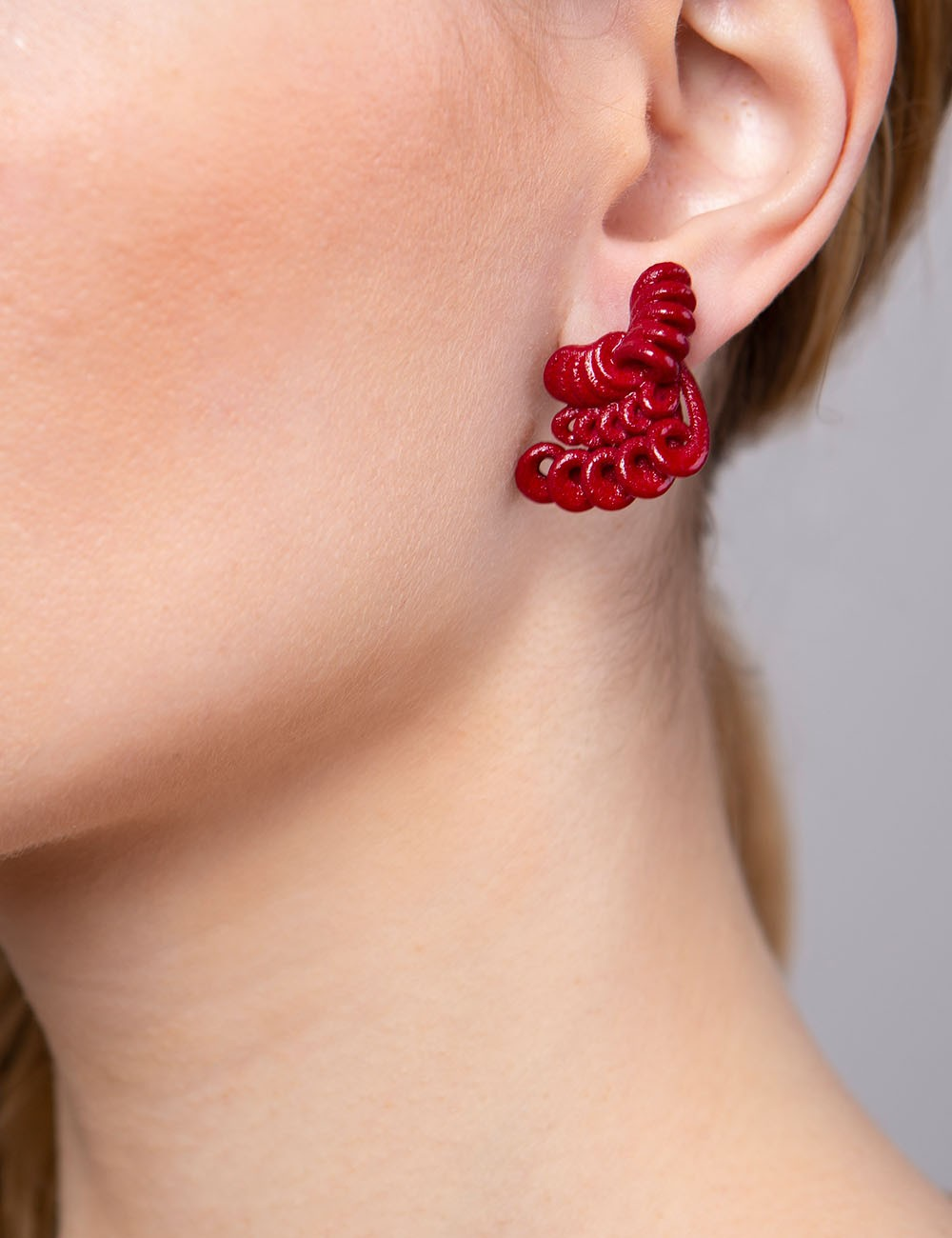 Hyacinth earrings ER-11 DELICIOUS RED Paolin fashion custom jewellery