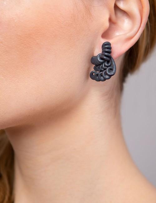 Hyacinth earrings, safe green