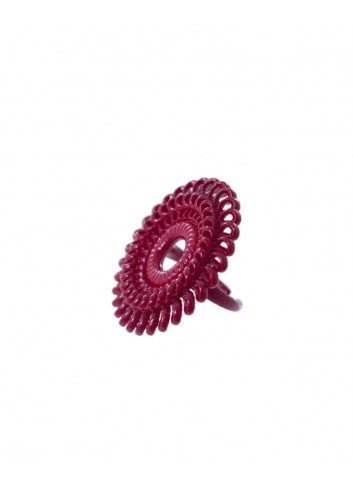 Anello Circle Venice RG-01 DELICIOUS RED fashion bijoux stamapato 3D