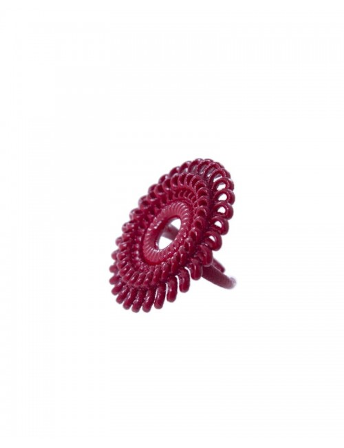 Circle Venice ring RG-01 DELICIOUS RED fashion bijoux 3D printed