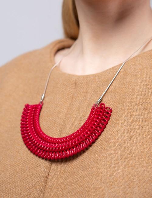 Teneriffe necklace NK-23 DELICIOUS RED Paolin fashion bijoux