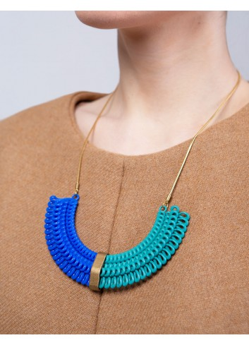 Teneriffe II necklace NK-23B BLUE and ANIMA Paolin custom jewels