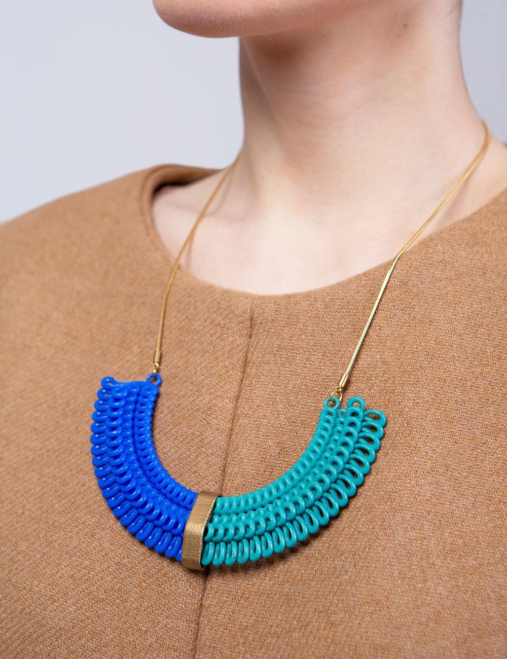 Teneriffe II necklace NK-23B BLUE and ANIMA Paolin custom jewels