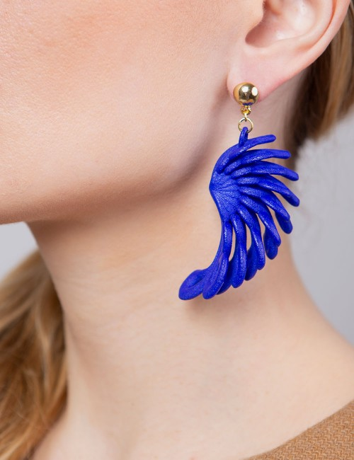 Parrot earrings ER-27 BLUE Paolin custom jewellery