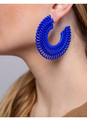 Teneriffe medium earrings, Blue