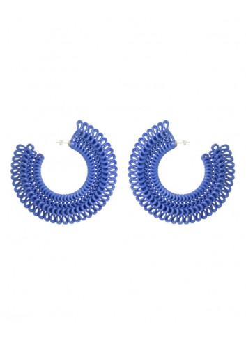 Teneriffe earrings, denim blue