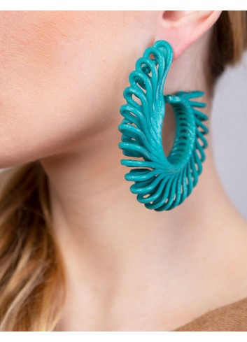 Circle Feather earrings ER-24 ANIMA Paolin fashion custom jewelry