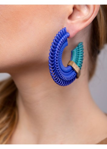 Teneriffe earrings medium, Anima Blue