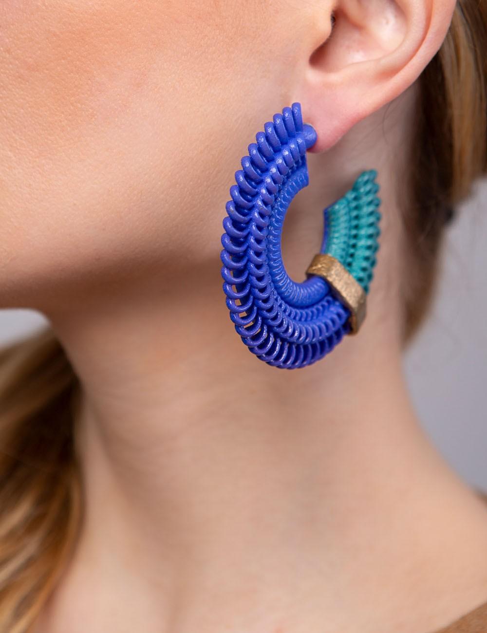 Teneriffe earrings  Anima Blue Paolin 3d