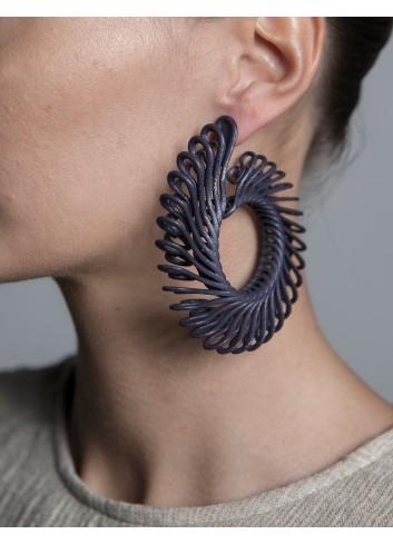 Orecchini Circle Feather,...