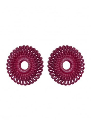 Circle Venice earrings, deep red