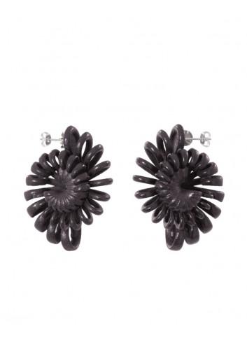 Orecchini Shell, black