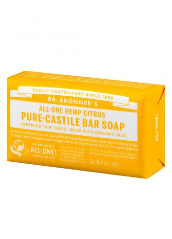 Dr Bronner organic oils soap fair trade citrus-orange