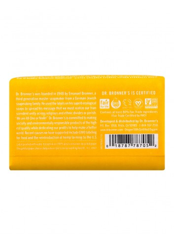 Dr Bronner organic oils soap citrus-orange fair trade