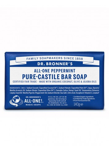 Pure-Castile bar soap...
