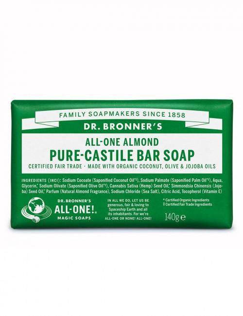 organic bar soap Dr Bronner almond