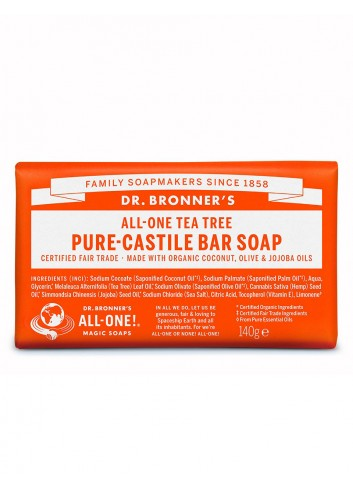 organic bar soap Dr Bronner tea tree
