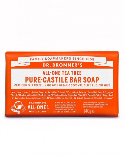 saponetta biologica naturale Dr Bronner tea tree