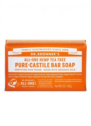 Dr Bronner organic oils soap fair trade tea tree