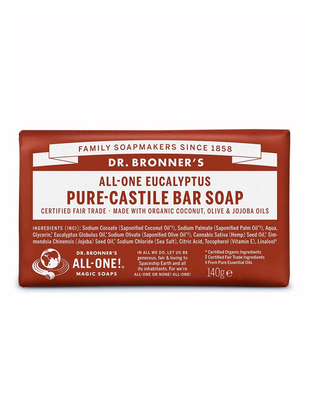 organic bar soap Dr Bronner eucalyptus