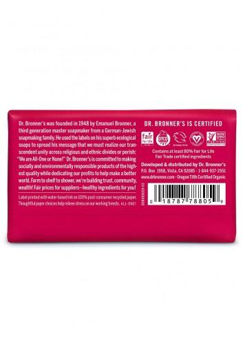 Dr Bronner organic oils soap rose fair trade