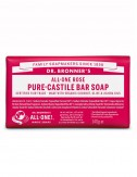 organic bar soap Dr Bronner rose