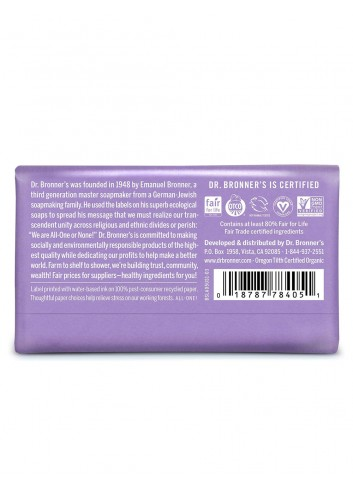 Dr Bronner organic oils soap lavender fair trade