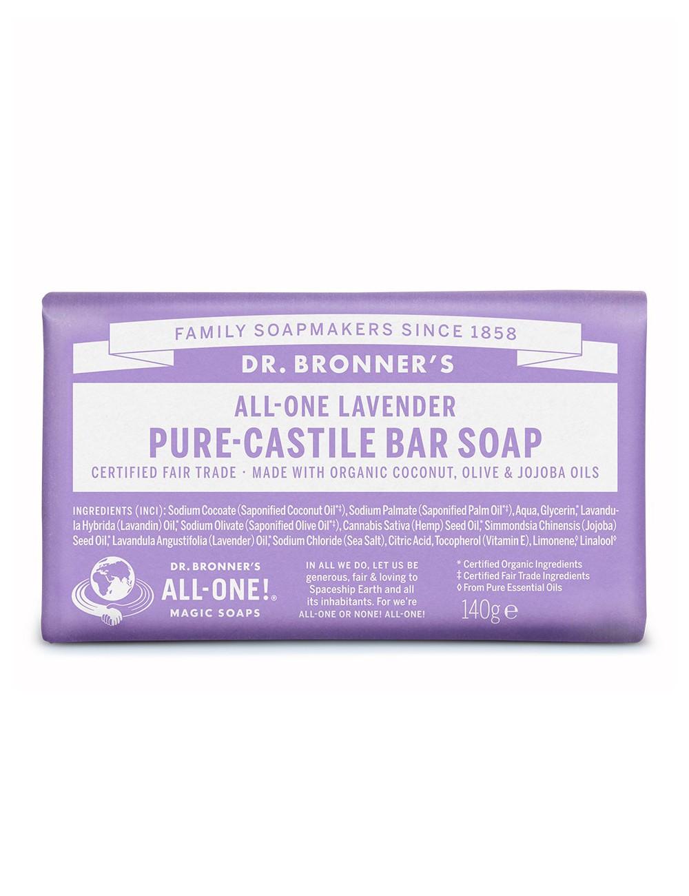 organic bar soap Dr Bronner lavender