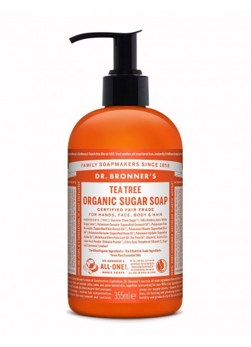 Dr Bronner organic sugar soap tea tree 355 ml