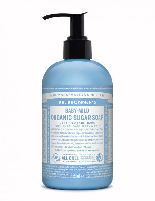 Dr Bronner organic sugar soap baby mild 355ml