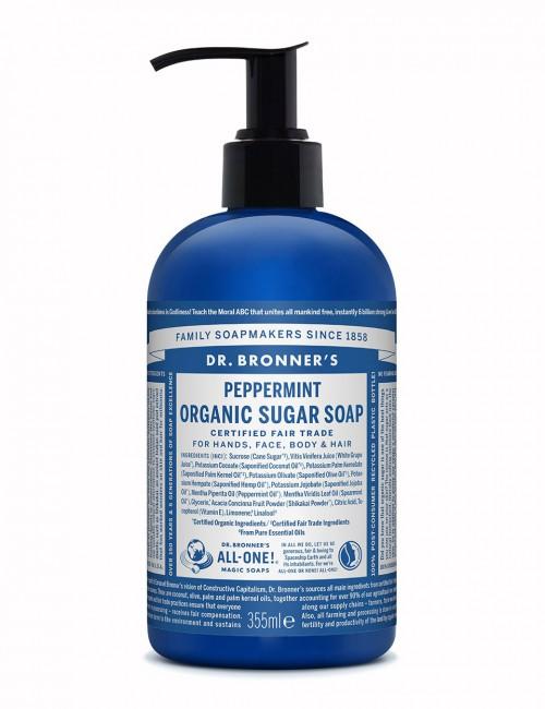 Dr Bronner organic sugar soap peppermint 355ml